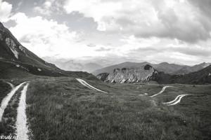 Blick von der Blaserhütte ins Tal